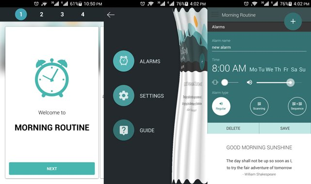 morning routine app